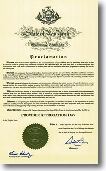 Thumbnail image of proclamation. Click to read proclamation...